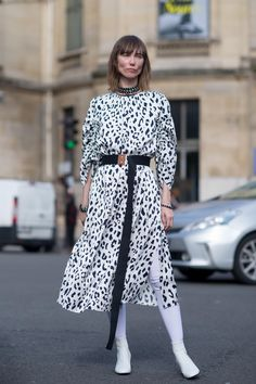 On the street at Paris Fashion Week. Photo: Moeez/Fashionista.