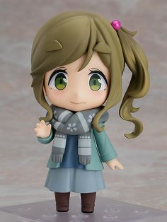 """Hot springs are so nice in the winter."" From the popular anime series ""Laid-Back Camp"" comes a Nendoroid of Aoi Inuyama! She comes with three face plates including a standard expression, a smiling expression and a mischievous expression from . Anime Figures, Action Figures, Spring Scene, Tokyo Otaku Mode, Popular Anime, Mode Shop, Good Smile, Scarf Hat, Hot Springs"