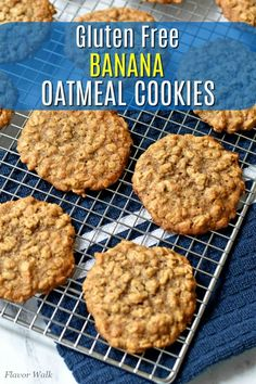 This Banana Oatmeal Cookie Recipe makes unbelievably soft, tender, and chewy cookies. The delicious banana flavor and texture from the oats is hard to resist. If you have ripe bananas waiting to be used, you have to try this recipe! Banana Oatmeal Cookies, Oatmeal Cookie Recipes, Oats Recipes, Healthy Dessert Recipes, Baking Recipes, Diabetic Desserts, Healthy Breakfasts, Healthy Food, Diabetic Recipes
