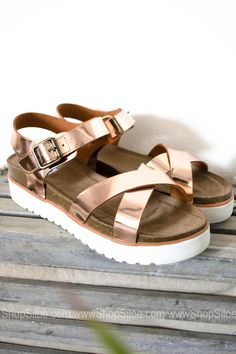 576ce570a274 Metallic Rose Gold Sandal Platform Rose Gold Sandals