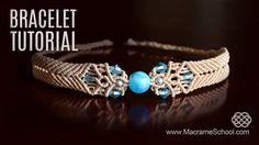 Big Bead Boho Bracelet TUTORIAL by Macrame School (with Chevron stripes/elements). Please watch more Macrame Bracelets with beads in playlist: http://goo.gl/...