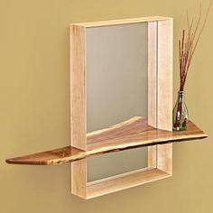 Mirror with Shelf Woodworking Plan, Furniture Mirrors