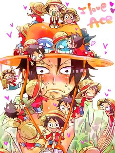 I love Ace! <3 Luffy and Ace One Piece