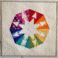 Diary of a Quilt Maven - modern interpretation of a circle using triangles