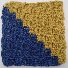 Diagonal Box Stitch Square - must try this!