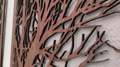 BRANCHES II  Laser cut wood art by Shadowfoxdesign on Etsy, $99.00