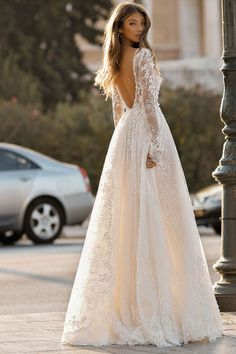 wedding dress with sleeves BERTA Wedding Dresses 2019 - Athens Bridal Collection. Lace backless ball gown wedding dress with long sleeves princess See more gorgeous wedding dresses by clicking on the photo Outdoor Wedding Dress, Fall Wedding Dresses, Bridal Dresses, Bridesmaid Dresses, Wedding Dressses, Wedding Dress Styles, Fashion Wedding Dress, Weeding Dress, Dress Fashion