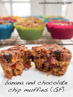 Banana and chocolate chip muffins (GF) #SundaySupper