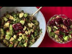 سلطة الكينوا الغنية بالفوائد - YouTube Vegetarian Food, Healthy Food, Healthy Recipes, Healthy Foods, Vegetarian Cooking, Healthy Eating Recipes, Healthy Eating, Vegan Food, Health Foods