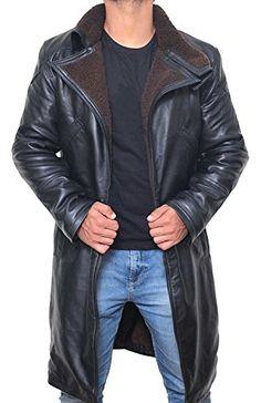 7e08e023921 Buy BlingSoul Black Trench Coat Men - Winter Shearling Jacket Coat Men  online