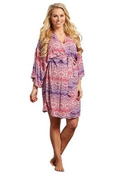 PinkBlush Maternity Pink Bohemian Dressing Robe XL -- Check out the image by visiting the link.Note:It is affiliate link to Amazon.