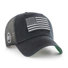66140e1e062 Operation Hat Trick Clean Up Trawler Black 47 Brand Adjustable USA Flag Hat