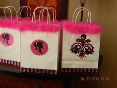 Barbie Gift Bags. $5.00, via Etsy.