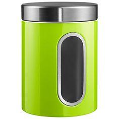 Wesco Steel Kitchen Storage Canister with Window, Lime Green Tea Canisters, Storage Canisters, Kitchen Canisters, Lime Green Kitchen, Green Kitchen Decor, Kitchen Storage Containers, Kitchen Storage Solutions, Green Kitchen Accessories, Kitchenware Shop