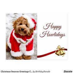 Christmas Seasons Greetings Cockapoo Friends Postcard Golden Doodle Dog, Christmas Dog, Goldendoodle, Dog Lovers, Doodles, Greeting Cards, Merry, Teddy Bear, Joy