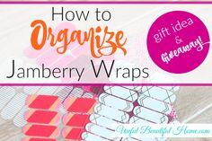 How to Organize Jamberry Wraps