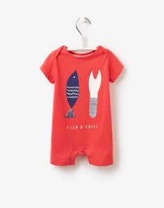 05a4b3096db Ideal gift for summer baby boys! Peached cotton short romper with fun screen  print. FREE UK postage over or come visit our little shop in lovely Lyme  Regis