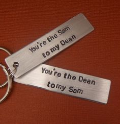 Hey, I found this really awesome Etsy listing at http://www.etsy.com/listing/115717800/supernatural-inspired-youre-the-sam-to