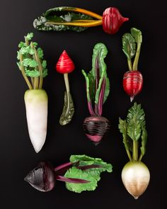 Glass vegetables made by Amanda Dziedzic.  Photos by Haydn Cattach, styling by Rebecca Vitartas.