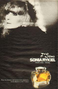 Sonia Rykiel, Parfum Paris, Perfume, Mad Men, Vintage Ads, Fragrance, Advertising, French, Couture