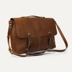 Bleu de Chauffe   Men   Leather messenger bag   Jules Plumber Bag   Made in France