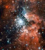 Sternhaufen NGC 3603 in einem der Spiralarme der Milchstraße