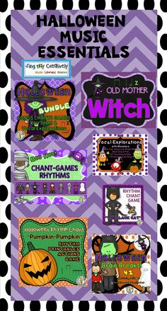 Bring on the Halloween Music..All you need is here:https://www.teacherspayteachers.com/Store/Sing-play-creatively/Category/OCTOBER-