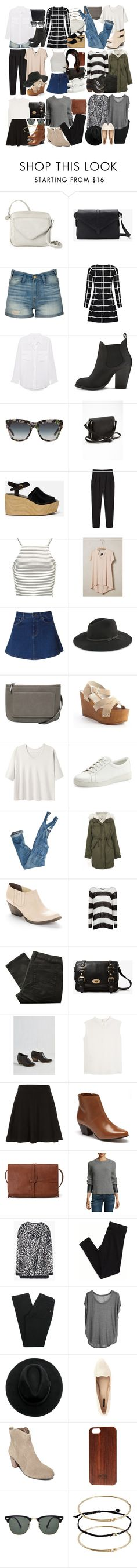 Crystal Reed Inspired Outfits (candid style) by veterization on Polyvore featuring rag & bone/JEAN, Chaser, MANGO, Left of Center, Alexander Yamaguchi, Topshop, Monki, American Eagle Outfitters, Zara and Great Plains