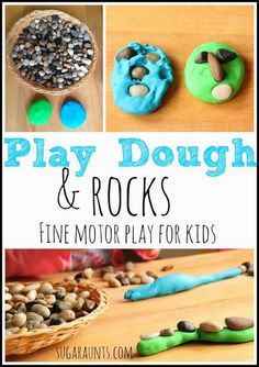 Play Dough fine motor activity for kids