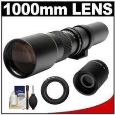 Price Samyang 500mm f/8.0 Telephoto Lens & 2x Teleconverter with Cleaning Kit for Nikon 1 J1 J2 V1 Digital Cameras For Sale