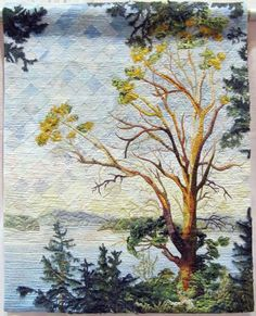 'Homage to the Ailing Pacific Madrone' quilt by Patty Mitchell