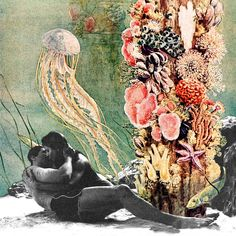 First Kiss Underwater | Oh, L'amour - Eugenia's Collages