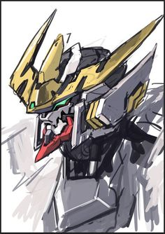 Gundam Head, Gundam Art, Mikazuki Augus, Barbatos Lupus Rex, Fallout Concept Art, Blood Orphans, Gundam Iron Blooded Orphans, Mecha Suit, Gundam Astray