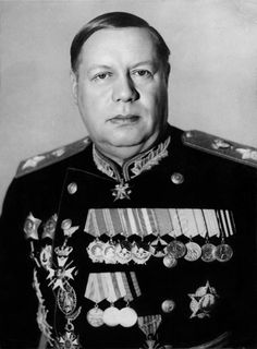 Official portrait of the Marshal of the Soviet Union Fedor Ivanovich Tolbukhin.