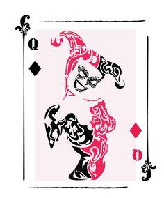 Harley Quinn Tribal Card