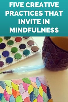 Creative practices can be a way to create space to quiet your thoughts and be present in your life. They can help you get out of your head and into your body and heart. They can even become like a moving. Mindfulness Meditation, Mindfulness Therapy, Living At Home, Art Therapy, Play Therapy, Coping Skills, School Counseling, Social Work, Psicologia