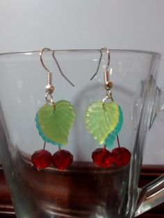 Love to be a little sweet? Showing off your fruity side? Well what would be better than these dangle earrings! Fun and flirty, but elegant too with Swarovski and glass elements. Sweet Cherries, Beadwork, Dangle Earrings, Dangles, Swarovski, Cherry, Beads, Elegant, Fun