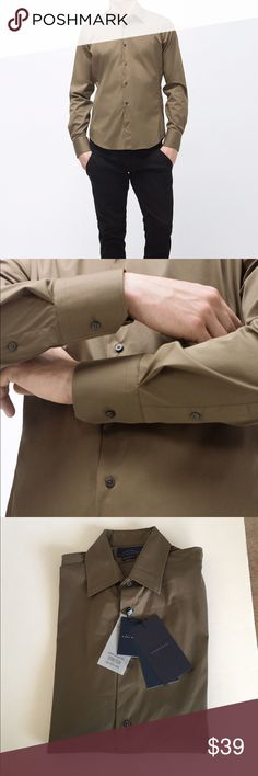 ZARA Men's Poplin Shirt Brand new with tags, never worn. Zara Shirts Dress Shirts