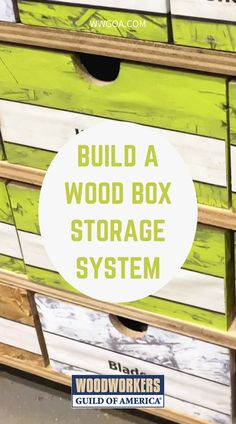 Who doesn't need some box storage in their shop? And who doesn't feel like their shop could be better organized? We all seem to accumulate a bit of clutter at times, and sometimes we have to admit that we spend more time looking for things in our shop than actually building our projects. Storage Units, Box Storage, Garage Storage, Storage Ideas, Cool Woodworking Projects, Woodworking Shop, Woodworking Plans, Home Projects, Projects To Try