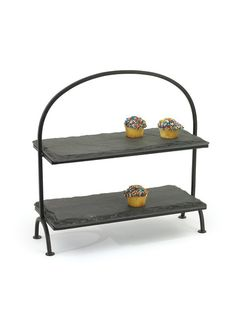 This beautiful Slate Tiered Serving Stand is not only a beautiful serving piece but also very durable.