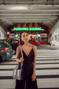 Dressing Up a Classic Jumpsuit - Melissa C. Plunging Neckline, Body Shapes, Must Haves, Dress Up, Jumpsuit, Legs, Chic, Classic, Black