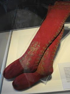 Knitted Sock, possibly Spanish, 17th century, Bata Museum Collection
