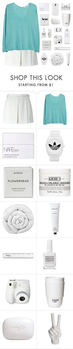 """do you tell them white lies?"" by burning-citylights ❤ liked on Polyvore featuring Alexander Wang, MANGO, NARS Cosmetics, adidas, Byredo, Kiehl's, Brinkhaus, Rodin, Obsessive Compulsive Cosmetics and Fujifilm"