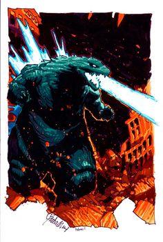 Godzilla - line art: Chris Bachalo, color: Antonio Fabela