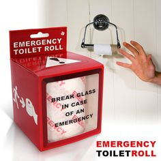 Emergency Toilet Roll - I should get this for my father-in-law who seems to fear running out of toilet paper