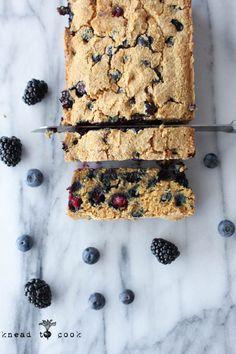 Berry Cornbread Loaf (Vegan, Gluten Free)