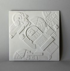 Rosenthal Ltd. Edition Wall Plaque by Eduardo Paolozzi Wall Sculptures, Sculpture Art, Eduardo Paolozzi, Mechanical Art, Concrete Art, 3d Studio, Clay Tiles, Clay Design, Cultura Pop
