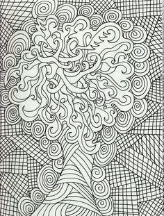 Geometric Challenging Free Adults Coloring Pages - Enjoy Coloring