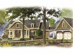 Craftsman Retreat (HWBDO12247)   Craftsman House Plan from BuilderHousePlans.com