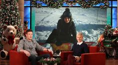 Ellen DeGeneres Cory Monteith: 'Lea and I Are Dating'! Christmas Gifts For Her, 12 Days Of Christmas, Lea And Cory, I Am Alive, The Ellen Show, Poster Prints, Posters, Cory Monteith, Ellen Degeneres